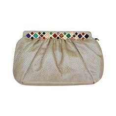 JUDITH LEIBER 'Jeweled' Clutch 1970s | From a collection of rare vintage handbags and purses at http://www.1stdibs.com/fashion/accessories/handbags-purses/