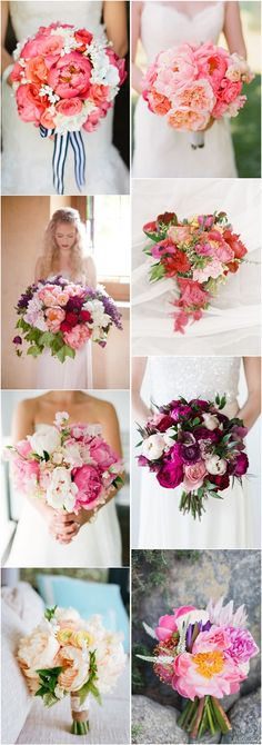 wedding bouquet ideas  peonies wedding bouquets flowers
