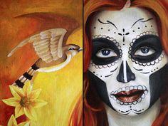 DIA De Los Muertos Makeup | Heidi Muranen: Dia de los muertos- oil painting