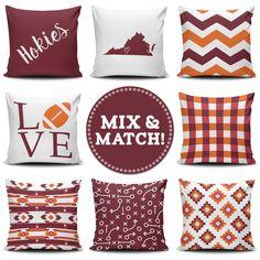 Hokies Mix & Match pillows