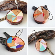 rustic wood projects | ... rustic slice of pine with rich hues and triangular shapes. (via Etsy