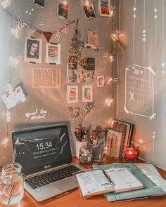 Edith // Study Inspiration discovered by cra Study Room Decor, Cute Room Decor, Room Decor Bedroom, Study Rooms, Study Desk, Study Space, Office Organization At Work, Office Desk, Office Cubicles