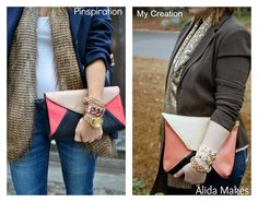 color blocked clutch {a tutorial} - Love Stitched