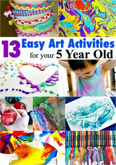 16 Easy Art Activities For Your 4 Year Old Play Ideas