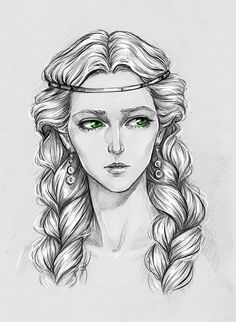 Pavetta - The Witcher Art Sketches, Art Drawings, The Witcher Books, Yennefer Of Vengerberg, Witcher Art, How To Draw Hair, Art Sketchbook, Deviantart, Fantasy Characters