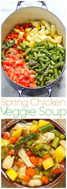 Healthy and delicious! Spring Chicken Vegetable Soup - we make this every week!