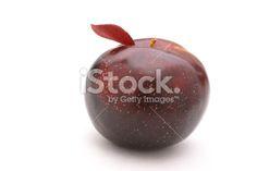 Prune, Rouge, Fruit, Feuille, Épiderme de la feuille Photo libre de droits