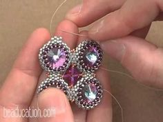 Laura McCabe▶ Seed Bead Crystal Squared Necklace Tutorial - Beaducation.com - YouTube