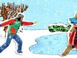 beeldbank winter: liedjes;prentenboek  op rijm: een sneeuwman met een plan; filmpjes winter