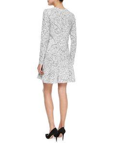 e5a4a457ca04 TAH79 Tory Burch Long-Sleeve Doodle-Print Dress