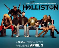 "new ""twisted comedy"" called Holliston coming this April on FEARnet. It is being billed by FEARnet as ""a sort of Bill & Ted-style buddy/horror comedy"" from the equally twisted minds of directors Adam Green and Joe Lynch."