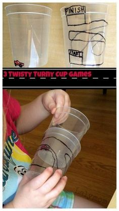 3 Simple but fun cup twisting games from LalyMom! What a fun way to work on fine motor skills and bilateral coordination! It is so nice when you find super fun ways to help children with their motor skills! This activity is sure to be a favorite with your toddlers preschoolers. #learninggames #finemotorskills #finemotoractivitiesforpreschoolers #bilateralcoordination #toddlers #preschoolers Sensory Activities, Sensory Play, Learning Activities, Preschool Activities, Visual Motor Activities, Visual Perceptual Activities, School Ot, Fun Cup, Gross Motor Skills