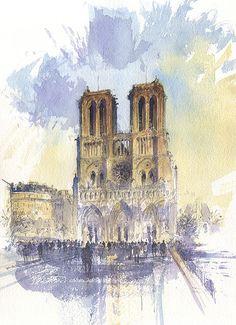 Tony Belobrajdic   WATERCOLOR   Notre Dame