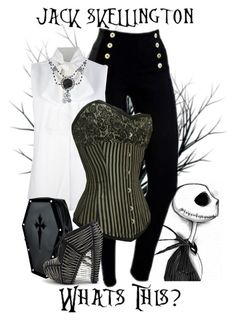 """""""Jack Skellington - Disney's Nightmare Before Christmas"""" by rubytyra ❤ liked on Polyvore featuring Victoria Beckham, UN United Nude, disney and blackandwhite"""