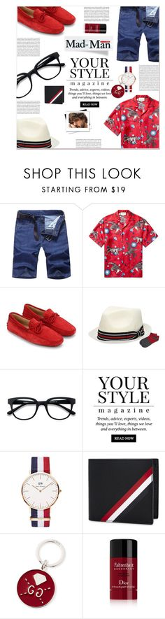 """""""for him"""" by ztugceuslu ❤ liked on Polyvore featuring Gucci, Tod's, EyeBuyDirect.com, Pussycat, Daniel Wellington, Thom Browne, Christian Dior, men's fashion, menswear and StreetStyle"""