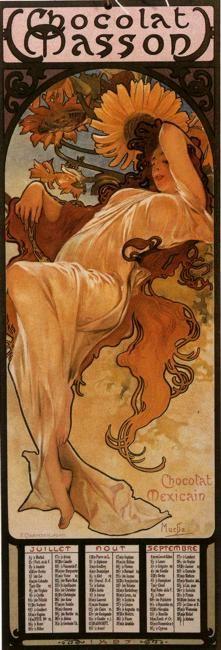 Le Four Seasons, Summer par Alphonse Mucha....réépinglé par Maurie Daboux .•*`*•. ❥