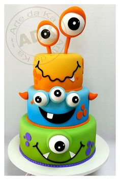 Birthday Party Theme: Monsters - Monster Cake *this has been my favorite cake so…
