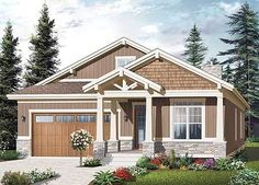 Craftsman Ranch with Nested Gables - 21938DR | 1st Floor Master Suite, Butler Walk-in Pantry, CAD Available, Canadian, Craftsman, Metric, Northwest, PDF, Ranch | Architectural Designs