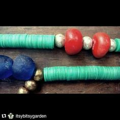 Beautiful african beads.