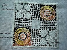 Cilaos Embroidery Tutorial Part 2 on 'Lace and Embroidery' blog - in French - Cilaos is a small island near Madagascar and they are known for their very open drawn thread work