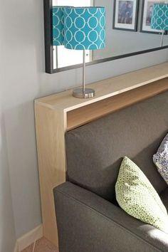 DIY Sofa table: