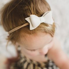 Leather Bow Headbands / www.nelandwittco.com