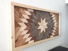 Reclaimed Wood Wall Art, Wooden Sun Burst – Northern Oaks Decor Co