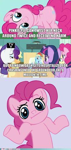 Huh Pinkie Logic I guess