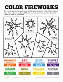Chemistry of Fireworks | Worksheet | Education.com