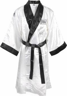 Joe Frazier Signed Autographed Everlast White Boxing Robe w/ Inscription