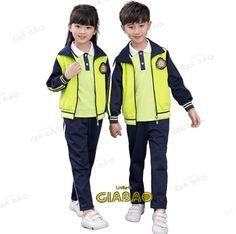 Đồng phục áo khoác mầm non mùa đông School Dresses, School Uniform, Acacia, Preschool, Play, Jackets, Fashion, Shopping, School Uniforms
