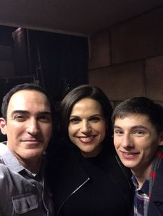 """Patrick Fischler, Lana Parrilla & Jared Gilmore behind the scenes of 6x16:   """"Mother's Little Helper"""" - from Patrick's twitter -"""