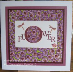New Challenge over at the Clarity Stamp Challenge Blog! Flower Power. Here's my card!