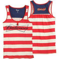 3c11d86639f416 Budweiser Ladies  Striped Tank S Striped Tank Top