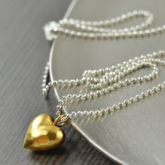 I love you Valentines day gifts Mixed metal by southpawstudios