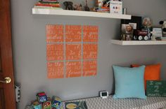 DIY Song Lyrics #WallArt for the #Nursery!