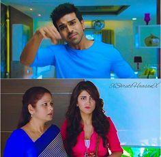 Movie: YevaduShruti and Charan Shruti Hasan, Cute Couple Videos, Beautiful Indian Actress, Indian Actresses, Cute Couples, Hairstyle, Fan, Movies, Hair Job