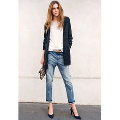 Jeans boyfit destroy Soft Grey   La Redoute
