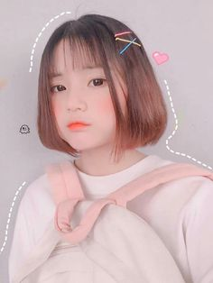 (notitle) Sure, the bushy perms of the might be out of vogue, but there are plentitude of hair p Ulzzang Korean Girl, Cute Korean Girl, Asian Girl, Korean Short Hair, Uzzlang Girl, Permed Hairstyles, Girl Inspiration, Girl Short Hair, Kawaii Girl