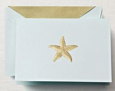 Hand Engraved Starfish Boxed Note Cards