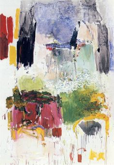 "Low Water by Joan Mitchell. 1969. Joan Mitchell was a ""second generation"" abstract expressionist painter and printmaker. She was an essential member of the American Abstract expressionist movement, even though much of her career took place in France."