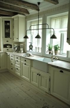 To have that much counter space and all white cabinets.