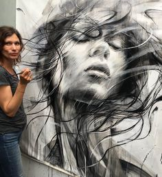 Street art painting artworks 29 ideas for 2019 L'art Du Portrait, Abstract Portrait, Portrait Paintings, Oil Paintings, Drawing Faces, Art Drawings, Pencil Drawings, Hipster Drawings, Art Faces