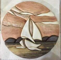 Wooden Painting, Wooden Wall Art, Transfer Images To Wood, Clay Design, Design Art, Intarsia Wood Patterns, Wood Resin Table, Wood Projects That Sell, Plaster Art