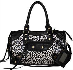 Balenciaga inspired handbag. Leopard print in big for AW13