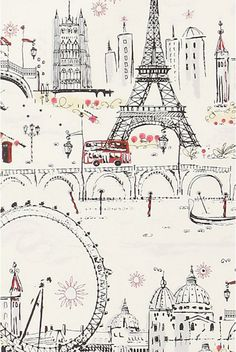 Parisian wallpaper!