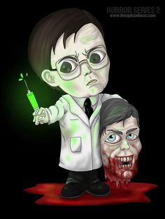 Dr. Herbert West y Dr. Carl Hill (Re-Animator)