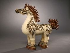 """Anderson, Walter Inglis - Photograph - Image of a ceramic piece entitled """"Chesty Horse"""""""