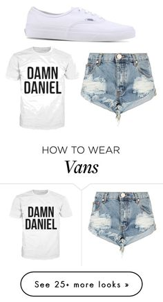 """Back again with those white vans"" by kaylafashion on Polyvore featuring Vans and One Teaspoon"