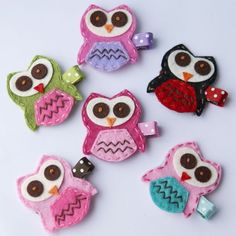 Owl Hair Clip Choose from a Rainbow of Colors by MyLittlePixies, $3.75